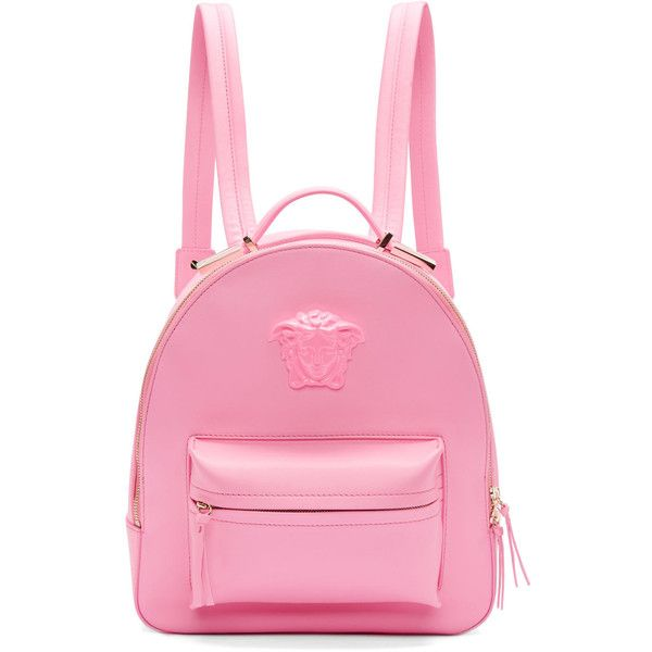 265503d76abb Pink Leather Medusa Backpack backpacks