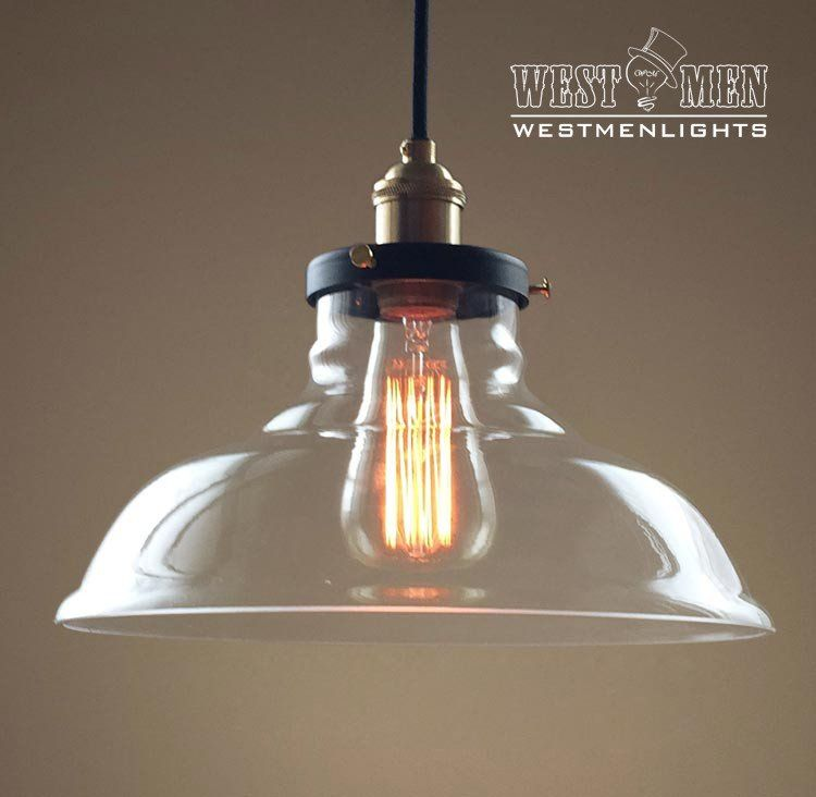 Westmenlights large clear glass hanging cord pendant ul listed bell 1 lights large glass kitchen pendant light westmenlights electric lighting designer home accents supplier aloadofball Image collections