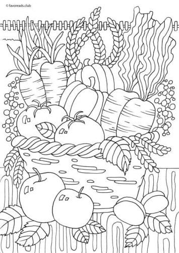 Country Spring Spring Harvest In 2020 Coloring Pages