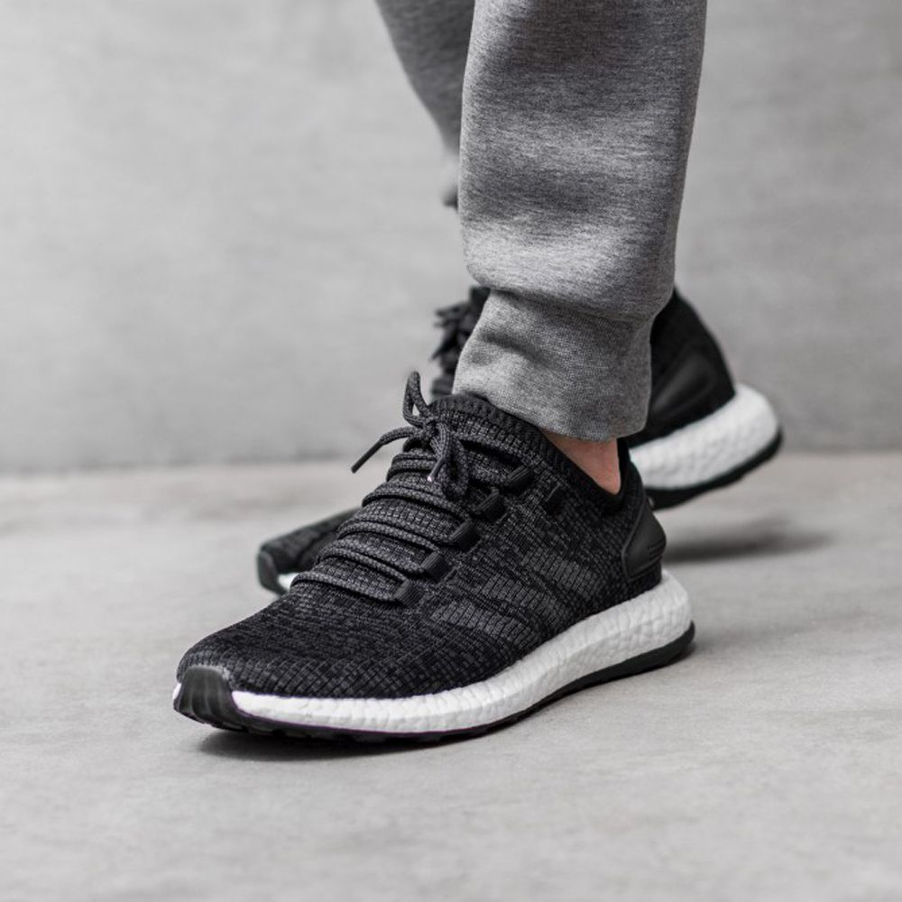 20380142bb5e7 adidas Pure Boost (BA8899) Core Black Solid Grey New Arrival  solecollector   dailysole  kicksonfire  nicekicks  kicksoftoday  kicks4sales  niketalk ...