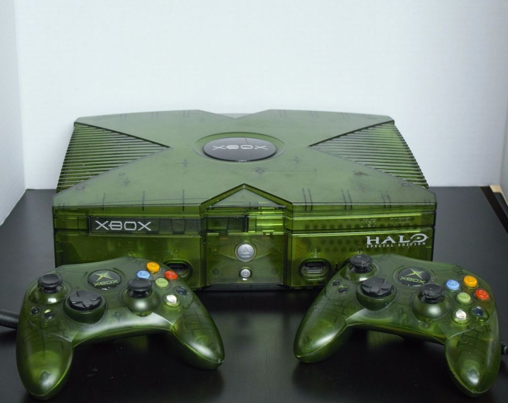 Old Xbox 360 Games : Original xbox halo edition modded loaded nes sega snes n
