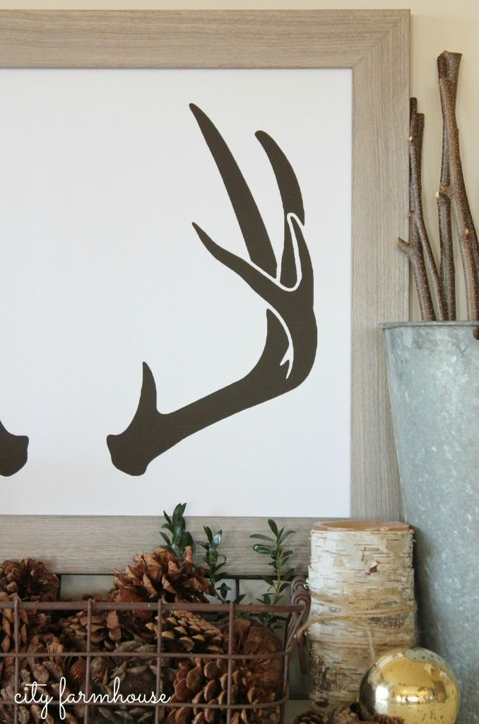 City Farmhouse-Antler print from By Samantha- Sneak Peek into Holiday Decor