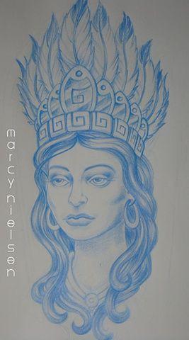 Indian Skull Headdress Tattoo   Aztec Headdress Tattoo ...