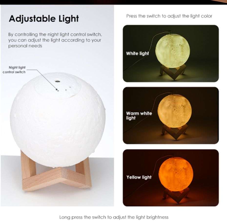 Essential Oil Diffuser Moon Lamp Humidifier Essential Oils Aroma Essential Oil Oil Diffuser