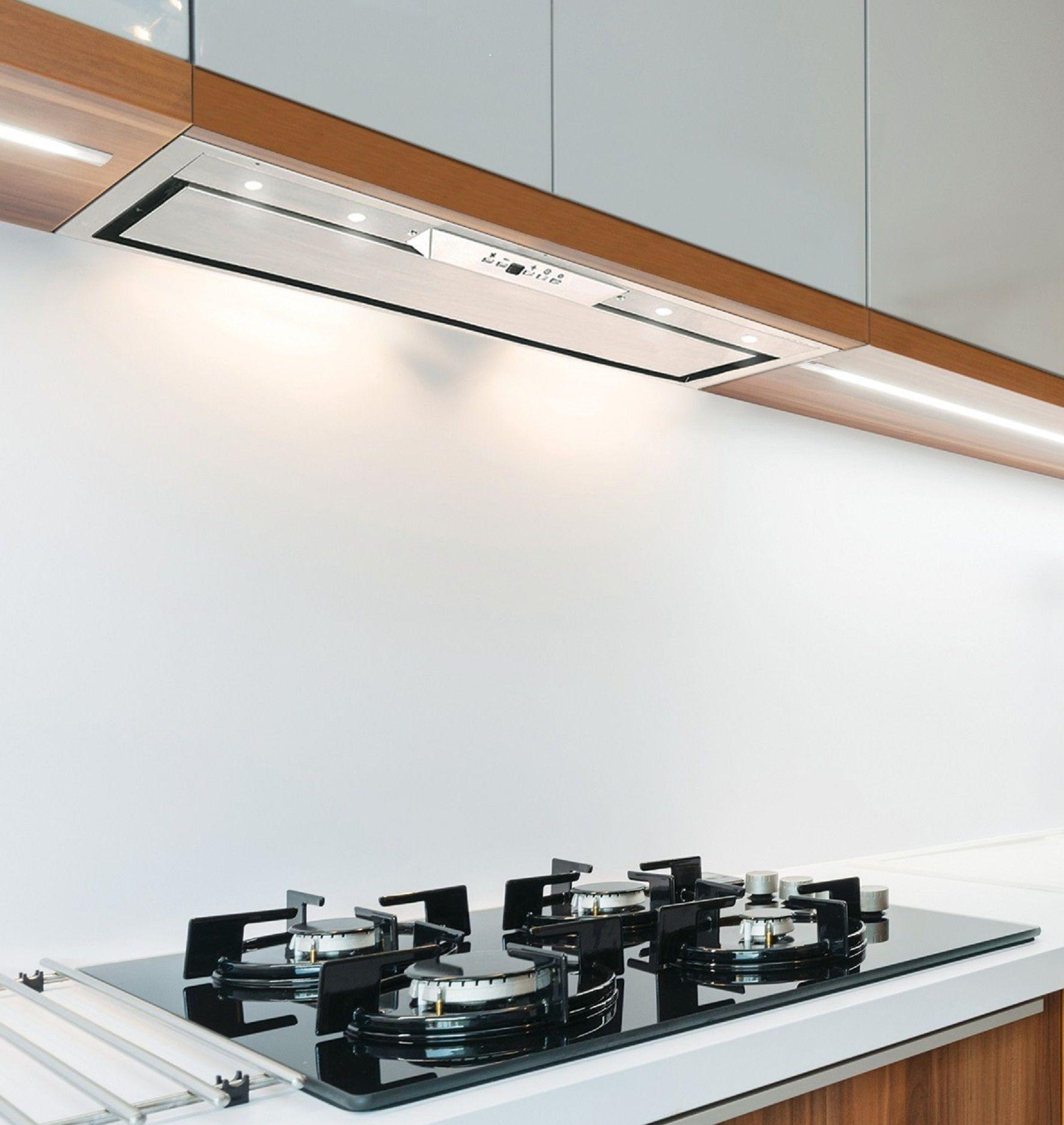 79cm Built In Canopy Cooker Hood Stainless Steel Finish Led