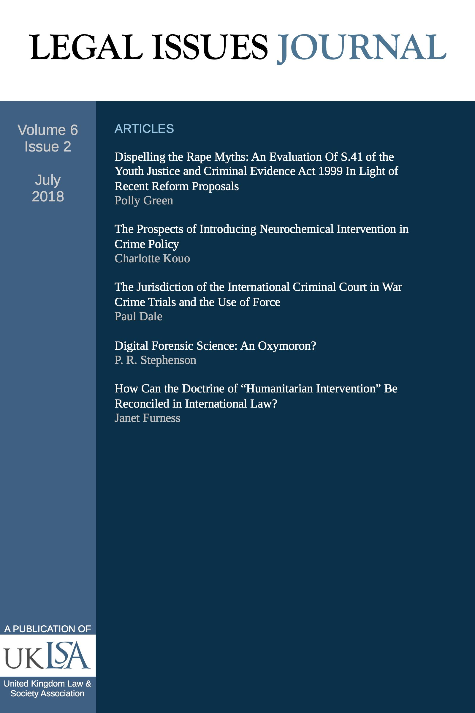 Now Available Legal Issues Journal, Volume 6, Issue 2