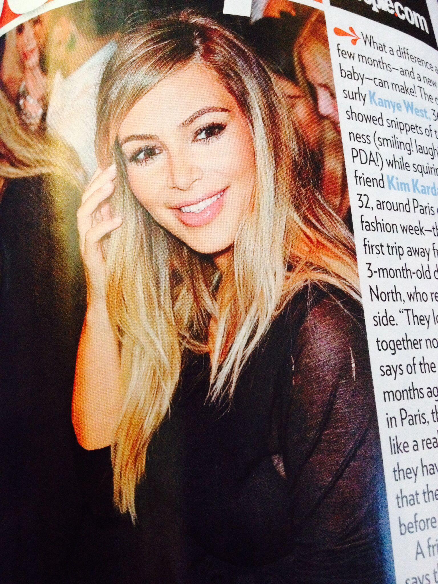 Kim kardashians blonde hair