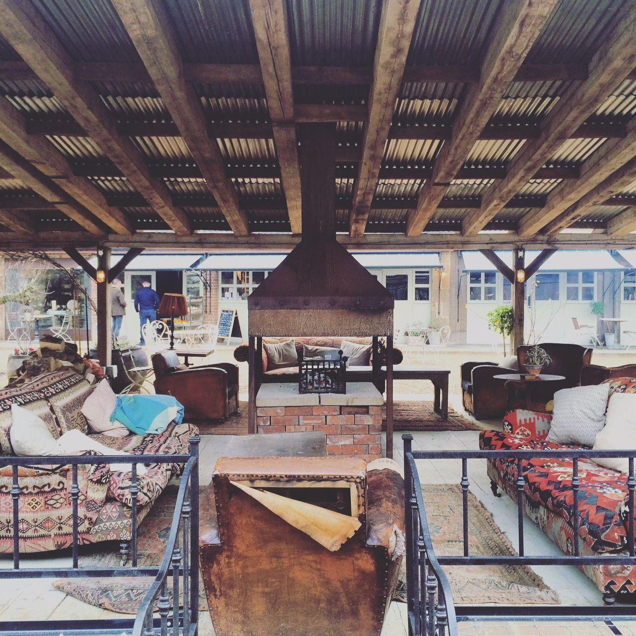 soho farmhouse, great tew, oxfordshire - outdoor seating areas