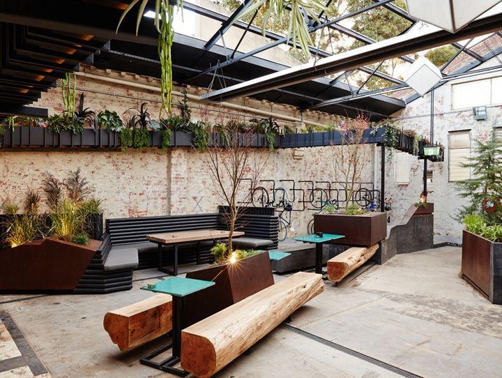 patio design for beer garden google search projects to try rh pinterest com  garden restaurant design plans