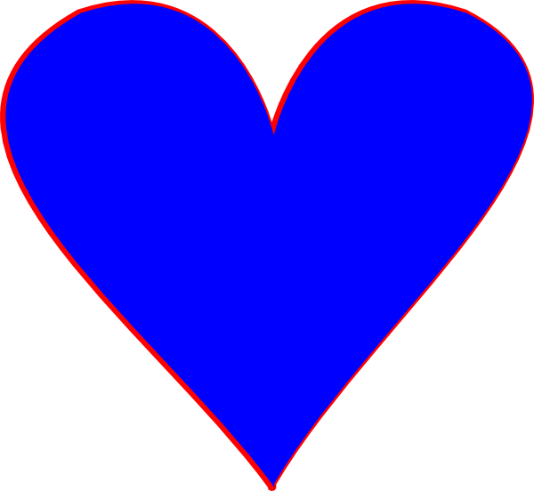 View Full Size Graphic Free Stock Clip Art At Clker Blue Heart Shape Png Download And Download Transparent Clipart For Clip Art Blue Heart Heart Clip Art