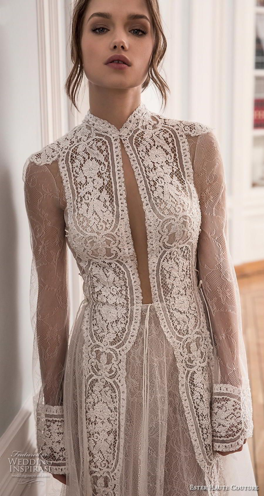 Ester Haute Couture 2018 2019 Wedding Dresses Wedding Inspirasi Couture Dresses Elegant Dresses High Neck Wedding Dress