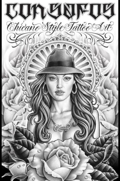 Lowrider Tattoo Flash | Com Miki Vialetto Con Safos Chicano Style ...