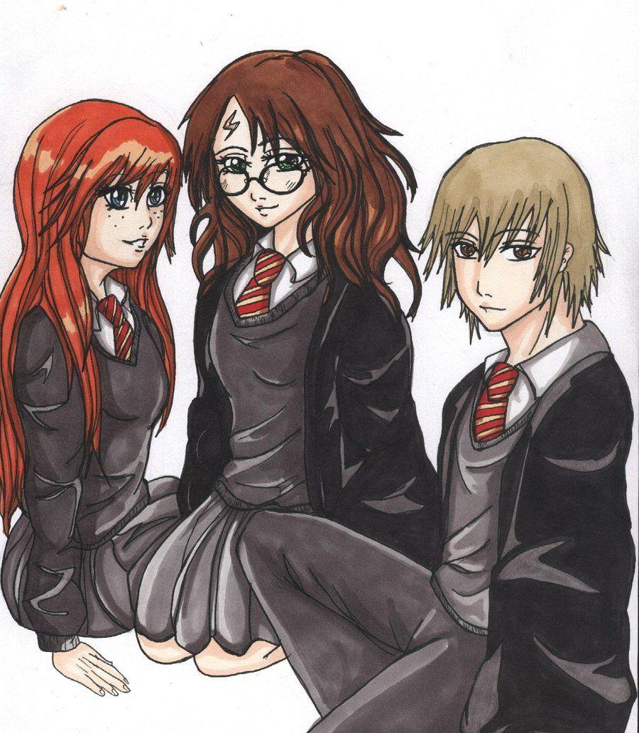 Harry Potter Genderbend Harry Potter Headcannons Harry Potter Movies Harry Potter