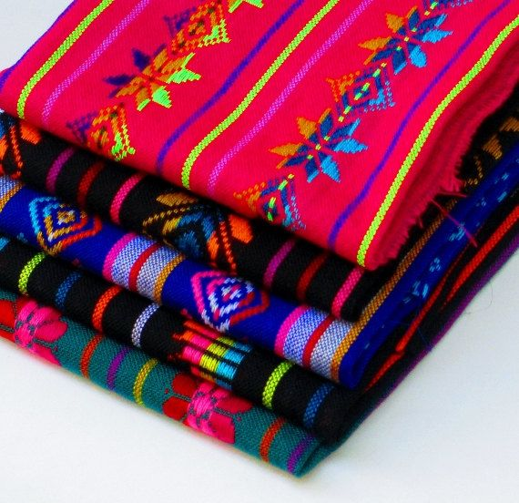 Aztec Fabric, Mexican Pattern Fabric, Colorful Tribal