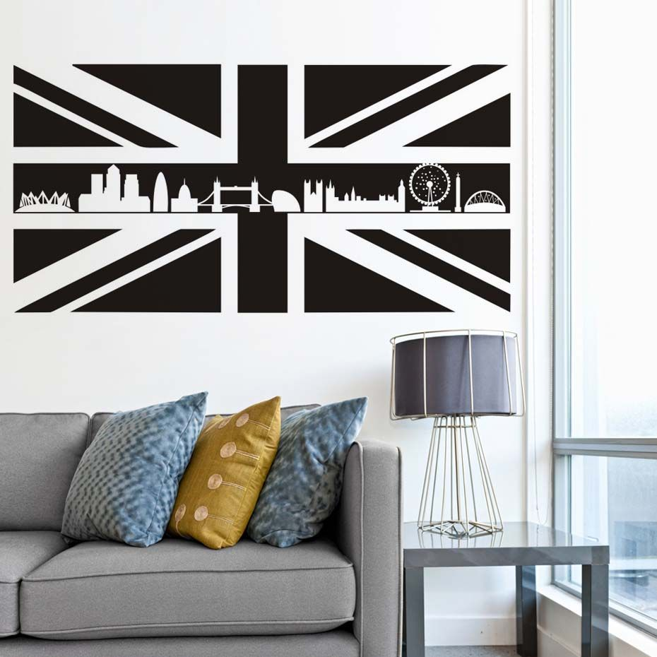 Buy Britain Uk Scotland Flag Map Wall Stickers England Landmark