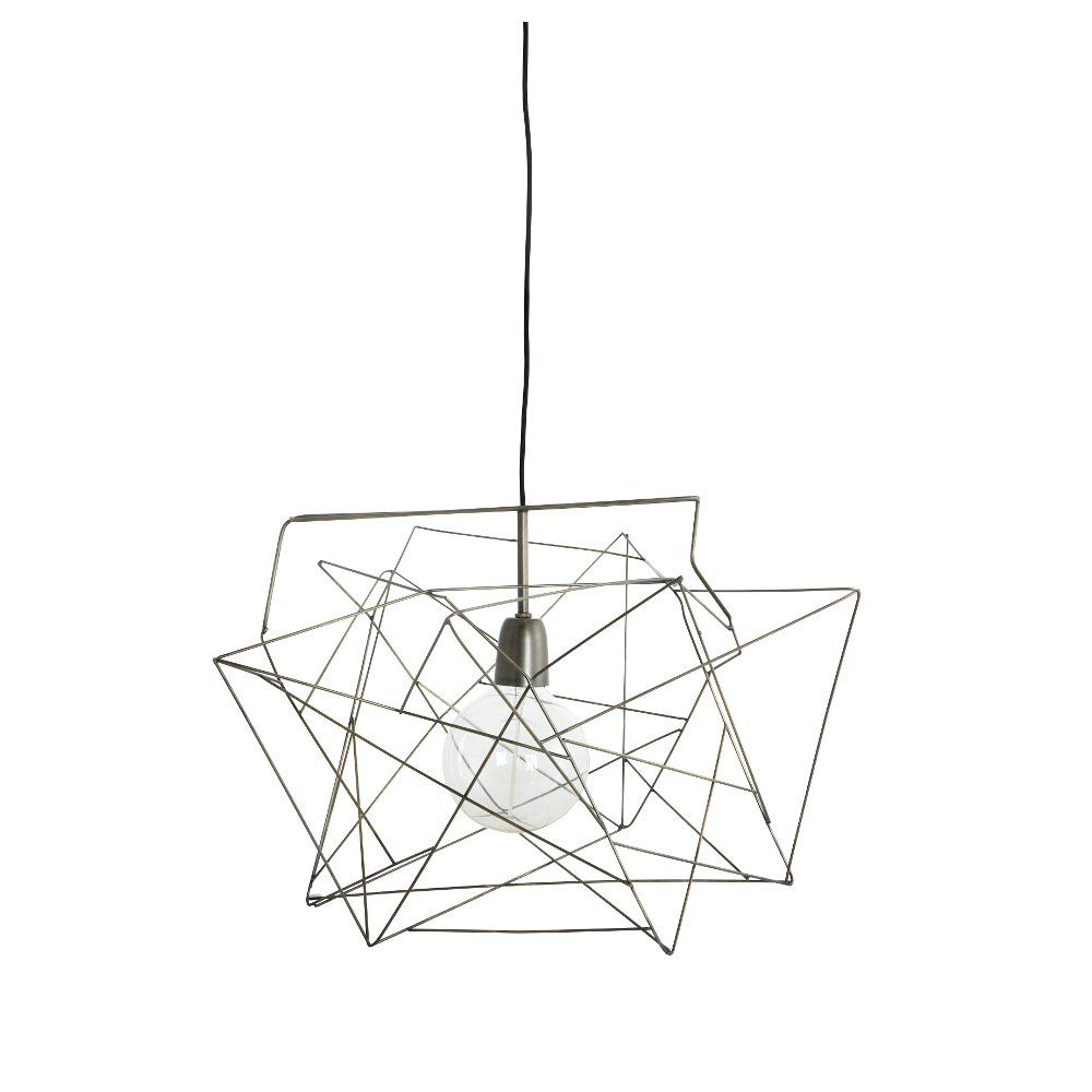 Extra Large Geometric Wire Frame Light Shade in Gunmetal | Home ...