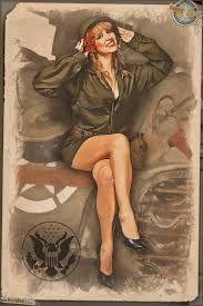 Resultado de imagen para military pin up girl art