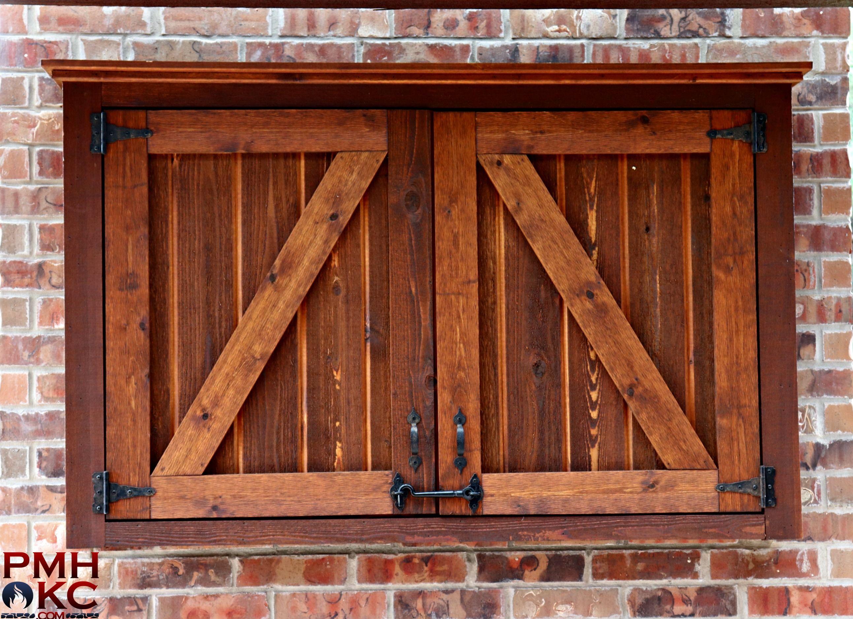 Custom Cedar Tv Box Outdoor Cabinet Outdoor Pergola Outdoor Living