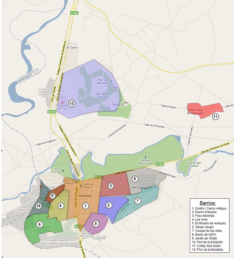 Barrios aranjuez - Aranjuez - Wikipedia, la enciclopedia libre