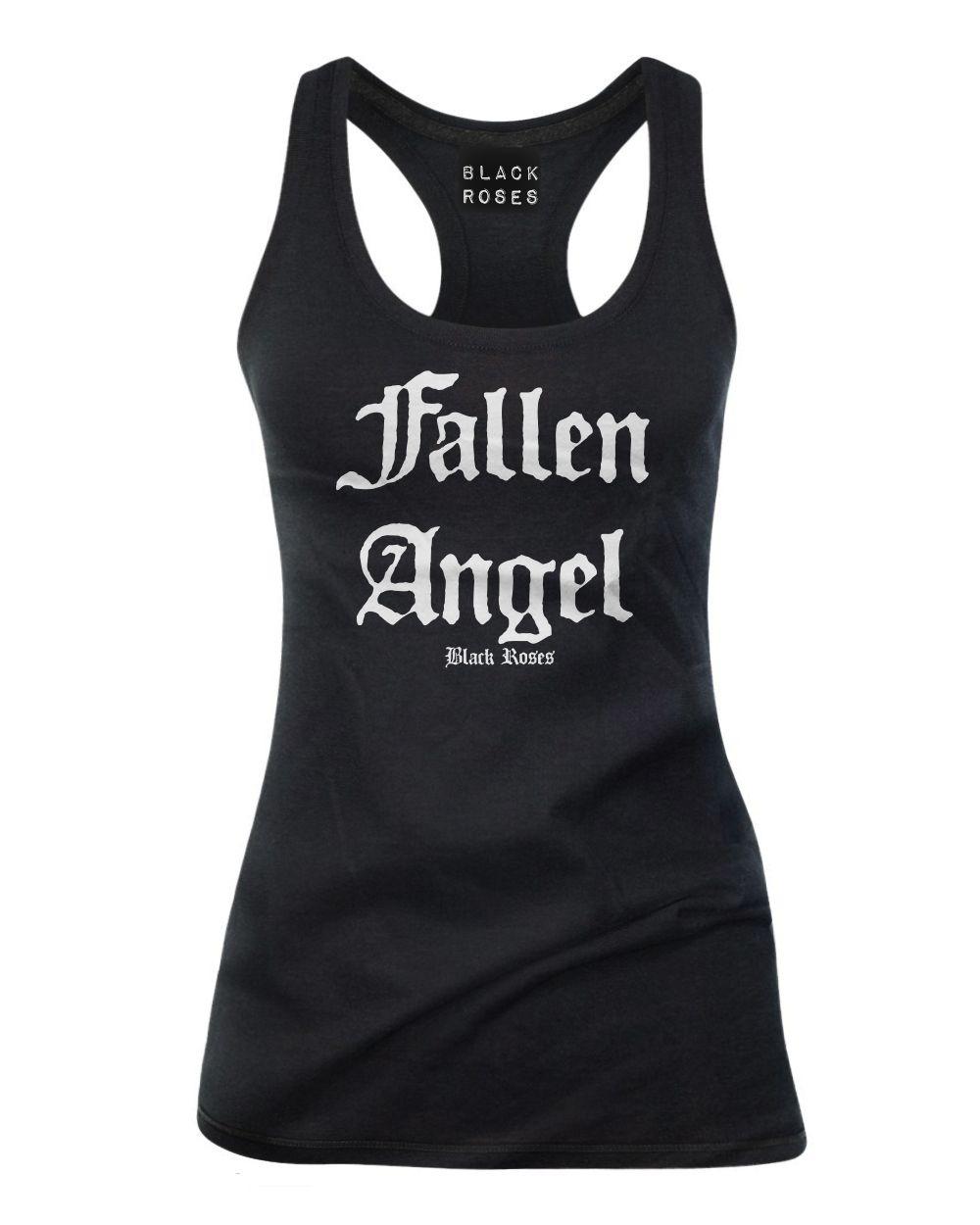 d187957c565427 Women s Fallen Angel Tank Top (Black) from Black Roses Apparel in ...