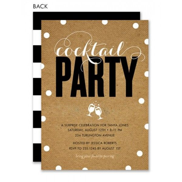 modern and krafty cocktail party invitation | cocktail party, Party invitations