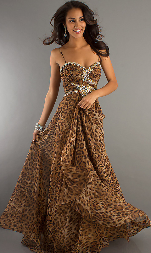 Purple Cheetah Print Prom Dress | Prom Mafia» Blog Archive » Shay ...