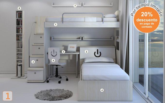 Mueble: (Código A11) camas-marineras-varones - AGIOLETTO, Muebles ...