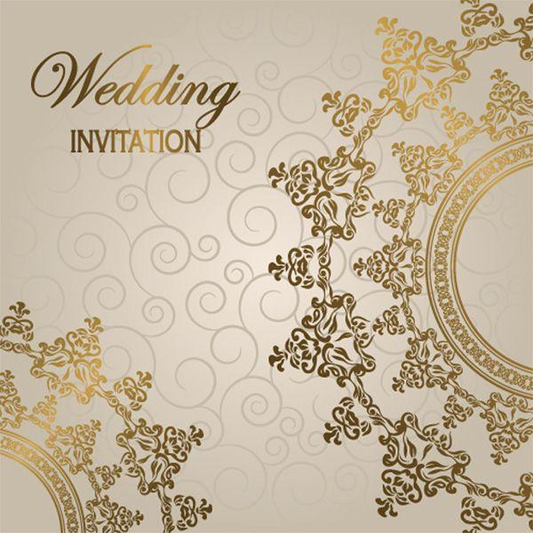 Elegant Glossy Wedding Invitation Background - http://www ...