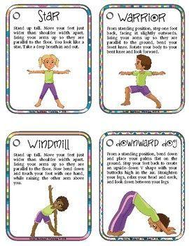 printable yoga poses for preschoolers  yoga for kids