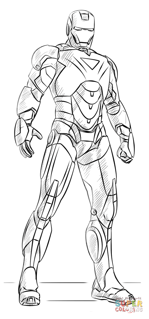 Iron Man coloring page from Iron