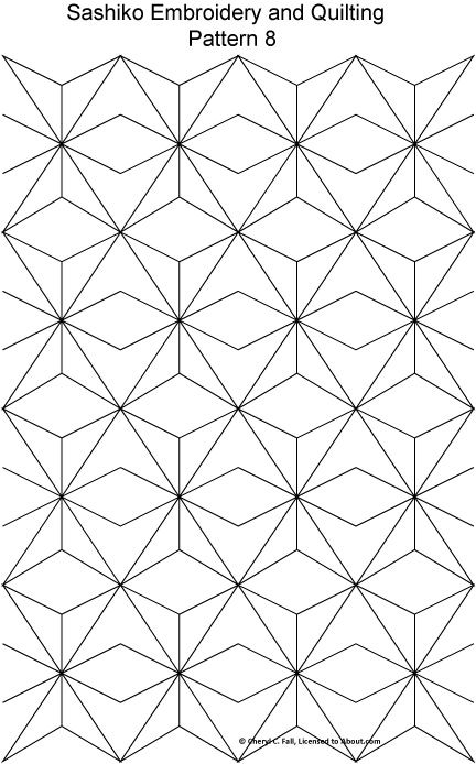 Try Japanese Embroidery With 8 Free Sashiko Patterns Coloring For