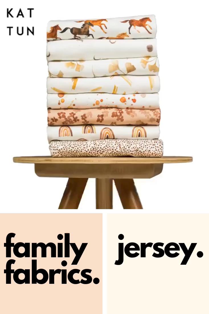 Jersey Stoffe für Kinder von Family Fabrics