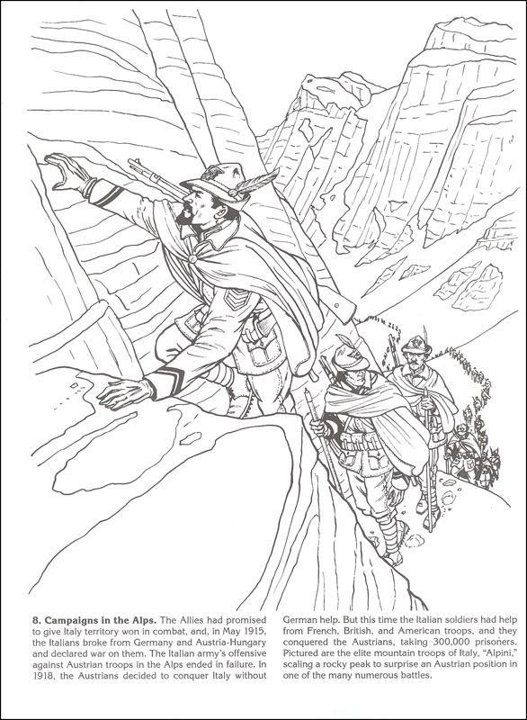 Story Of World War I Coloring Book 031782 Images Coloring Books Coloring Pages Colouring Pages