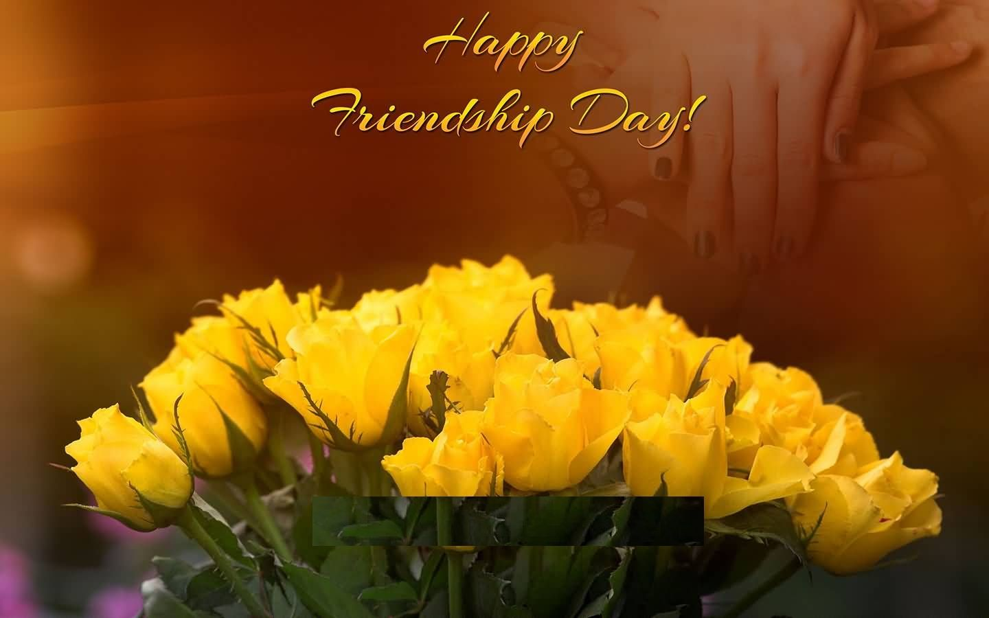 Happy Friendship Day Yellow Rose Photo Friendship Day Images Happy Friendship Day Friendship Day Wishes