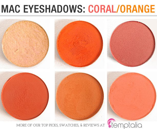 mac eyeshadow swatches corals oranges shopping list. Black Bedroom Furniture Sets. Home Design Ideas