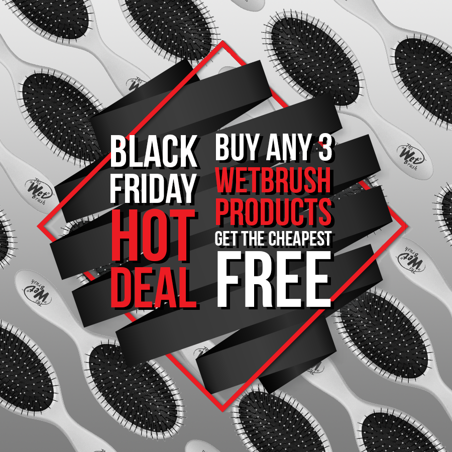 Buy any 3 WetBrush products & get the cheapest FREE this