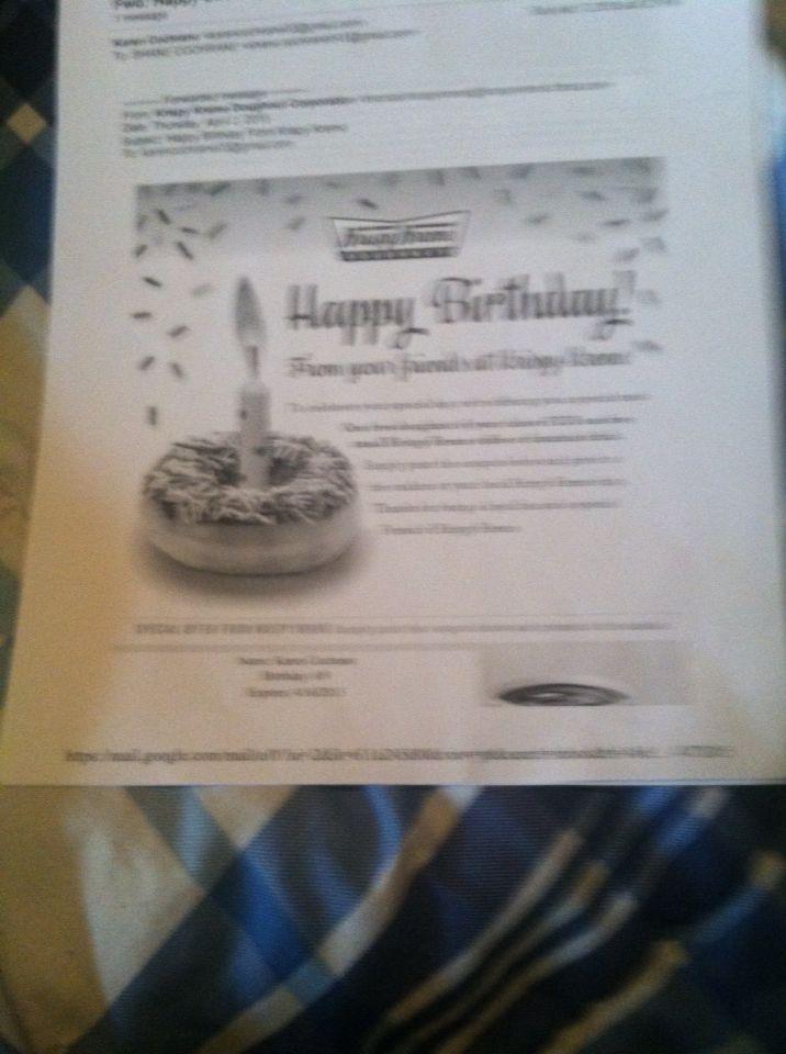 Gift from Krispy Kreme