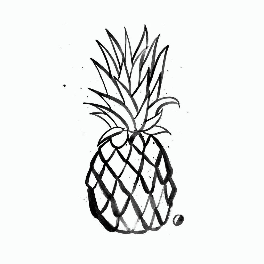 gold foil pineapple tee krea pinterest tatoveringer. Black Bedroom Furniture Sets. Home Design Ideas