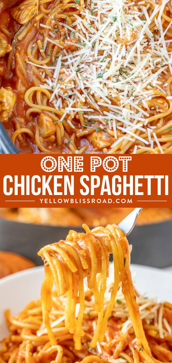 One Pot Chicken Spaghetti images