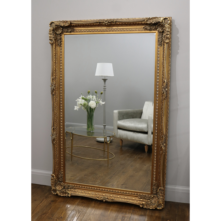 Gold Carved Louis Full Length Mirror