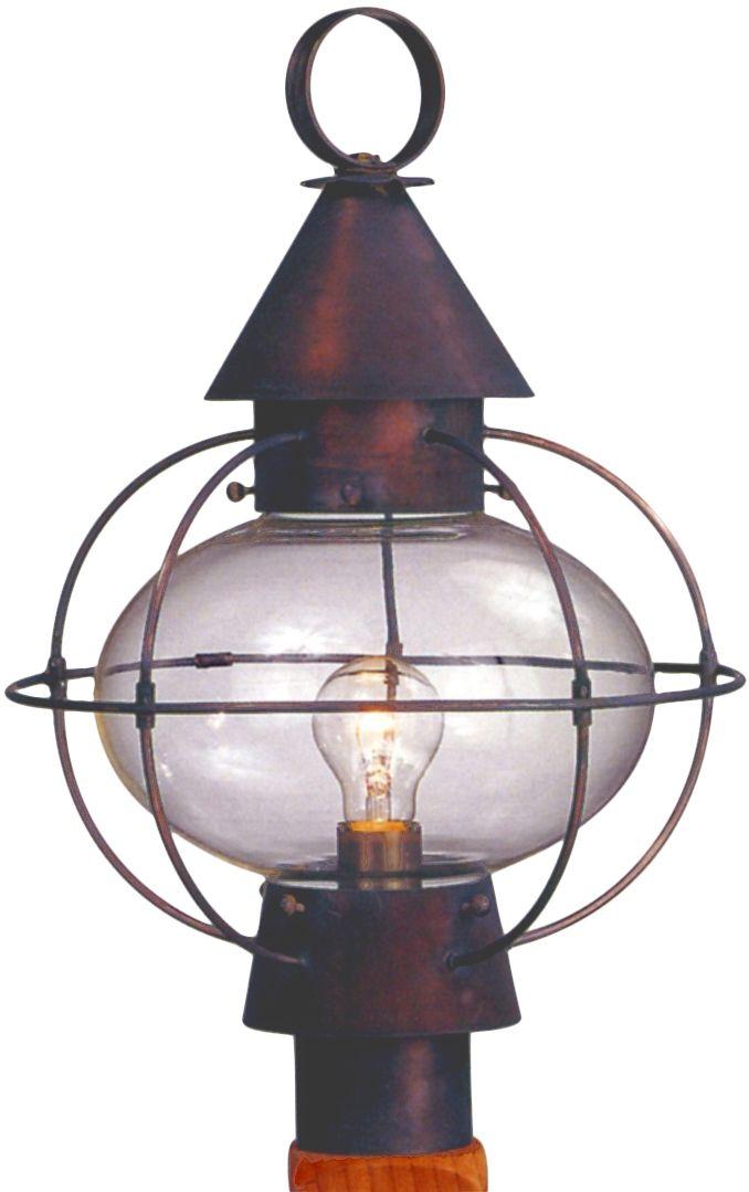 Cape Cod Onion Post Light Copper Lantern