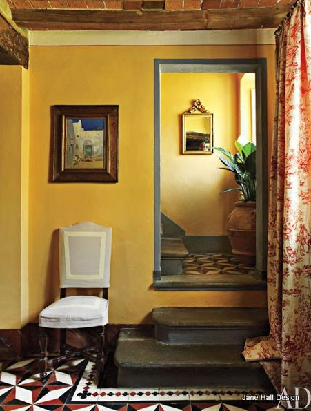 Traditional Style Hallway in Daffodil Yellow from Architectural ...