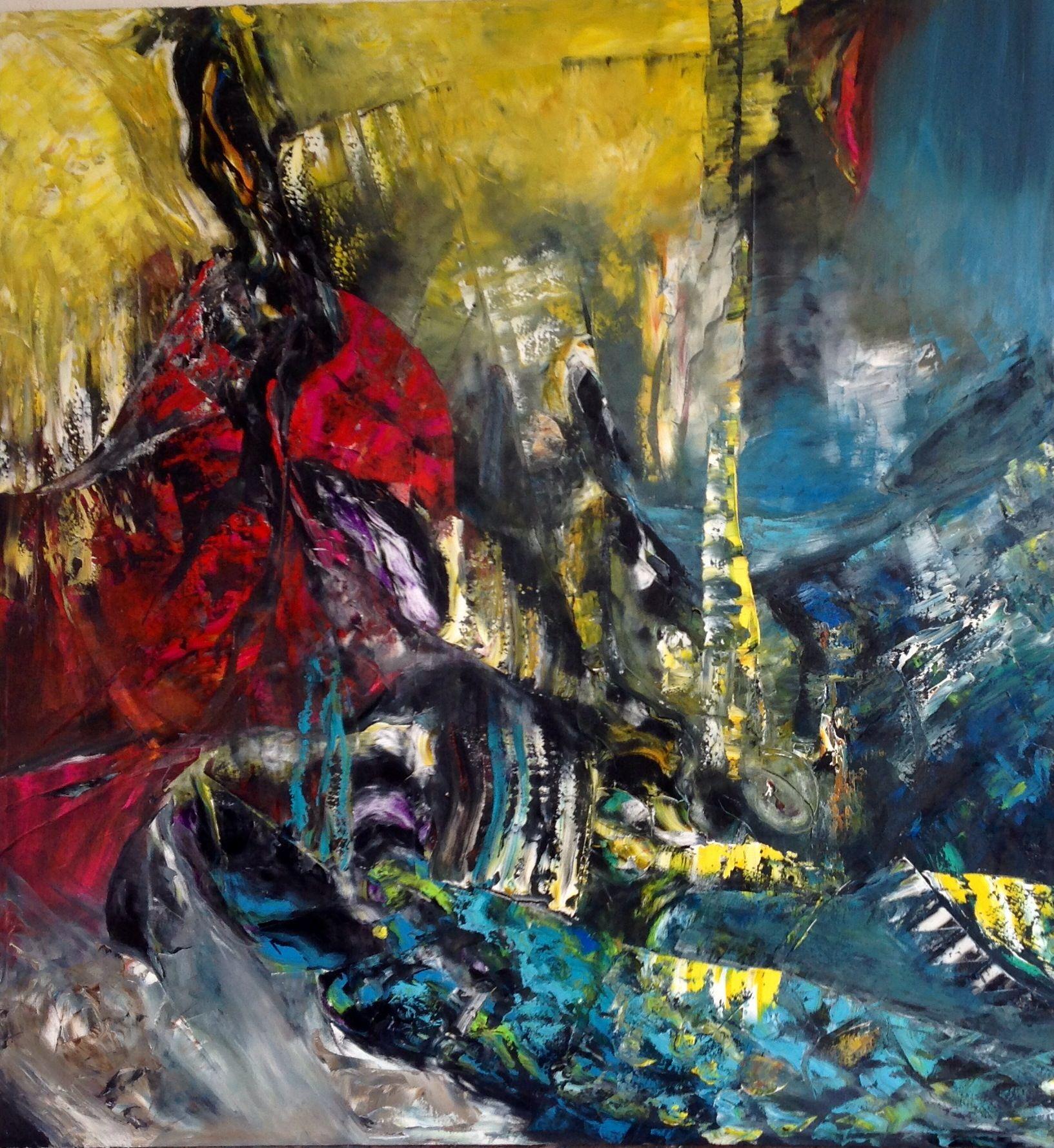 #abstract oil on canvas# 150 cm x 140 By Britt Boutros Ghali Www.brittbg.com