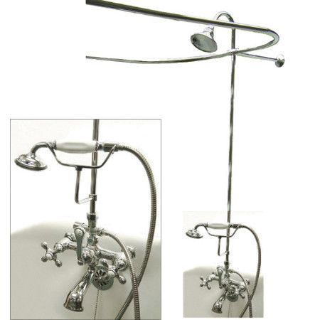 Shop Elements Of Design Vintage Package Clawfoot Tub And Shower Filler At  Loweu0027s Canada. Find Our Selection Of Tub U0026 Shower Faucets At The Lowest  Price ...
