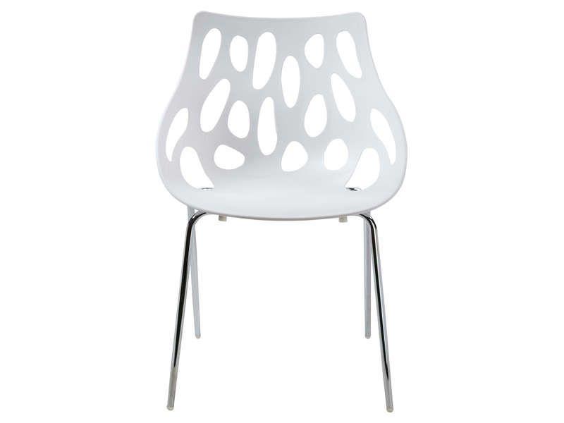 Chaise MILA coloris blanc - pas cher ? Cu0027est sur Conforamafr - conforama chaises salle a manger
