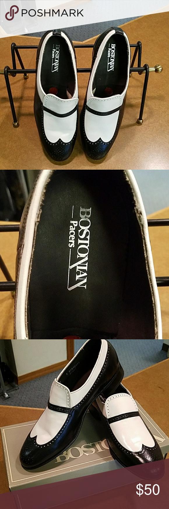 Men's Bostonian shoes Men's gorgeous Bostonian black and white dress shoe size 10 M Bostonian Shoes
