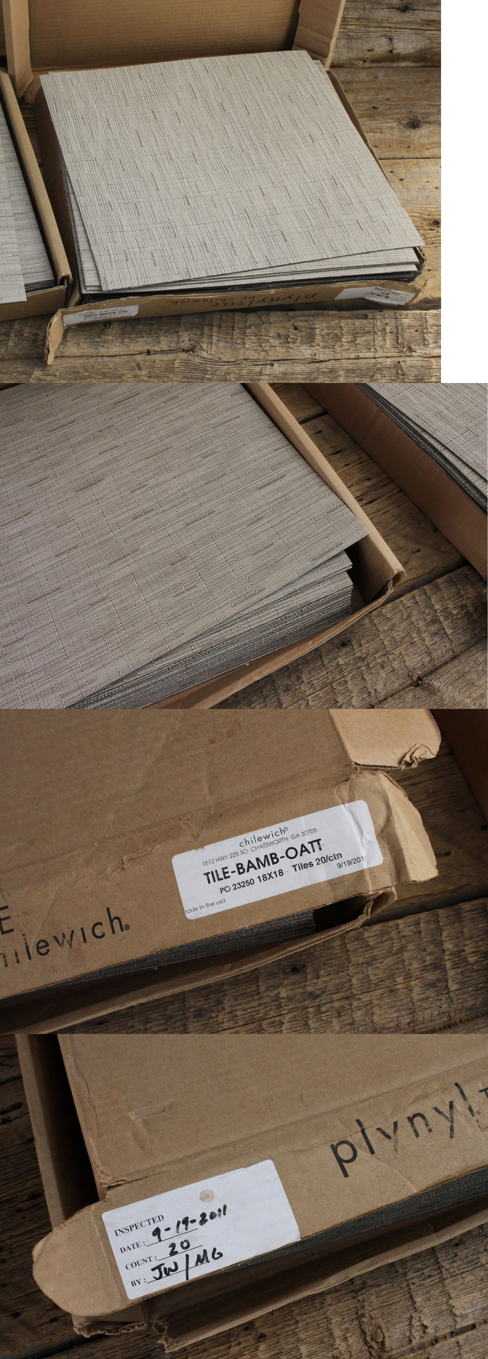 Carpet Tiles 136820: One Full Box Of Chilewich Plynyl Bamboo Oatt ...