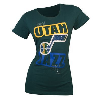 c89391024d4e Utah Jazz NBA Womens Chole T-Shirt (Green)