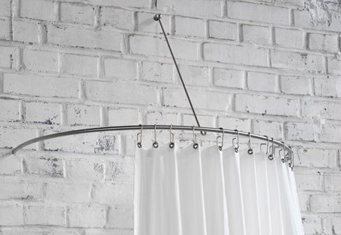 phos shower curtain semi circle rail dr 140 hw shower. Black Bedroom Furniture Sets. Home Design Ideas