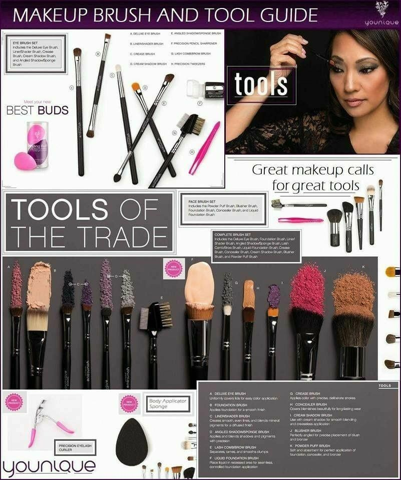 BSMALL New 14 Pcs Makeup Brushes Premium Synthetic Kabuki